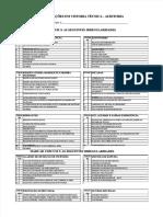 Chek List  Modelo