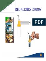 MUESTREO ACEITES USADOS