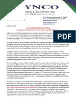 Lynco Client Alert 3.18.2020 - Tax Updates and the Cornoavirus (1)