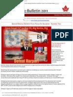 FOS e-Bulletin No. 25 - January 29, 2011 Big Oil, Big Banks, Big Military! Defeat Harper!
