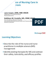 Art and Science of Nursing Care in Multiple Sclerosis