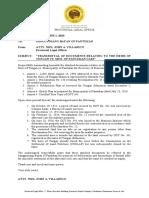Letter to SB Pantukan