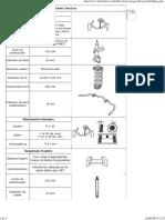 Especificações Técnicas Suspensão