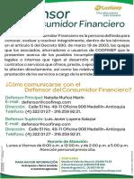 Defensor Del Consumidor Financiero 2020 COOFINEP