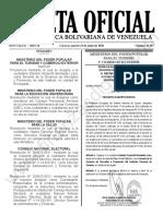 Gaceta Oficial 41907 Sumario