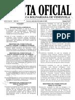 Gaceta Oficial 41917 Sumario