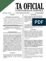 Gaceta Oficial Extraordinaria 6.558 Estado de Alarma