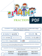 FRACTIONS MATH CLASS #3. YEAR 5°