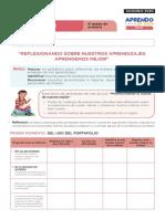 FICHA DE AUTOAPRENDIZAJE PERSONAL SOCIAL SESION EVALUACIÓN QUINTO GRADO (1)