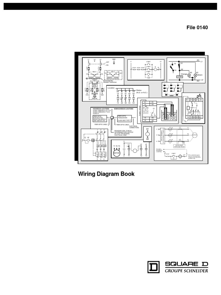 Square D Wiring Diagram Book | Switch | Relay on