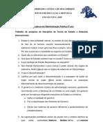 TEO DE ESTADO E REL INTER Lic em Adm Pub 2º ano