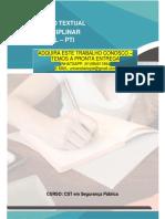 A proposta de Produção Textual Interdisciplinar Individual (PTI) terá como temática
