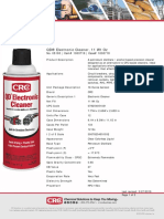 CRC 05103 QD Electronic Cleaner Sell Sheet
