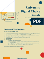 University Digital Choice Boards by Slidesgo