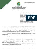 PORTARIA ENSINO REMOTO - IFNMG