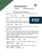 problemas de  calculos estequimétricos