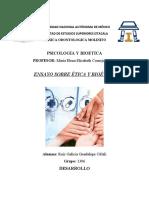 ENSAYO SOBRE ÉTICA Y BIOÉTICA por RUIZ GALICIA GUADALUPE CITLALI