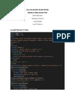 Proyecto calculadora de matrices