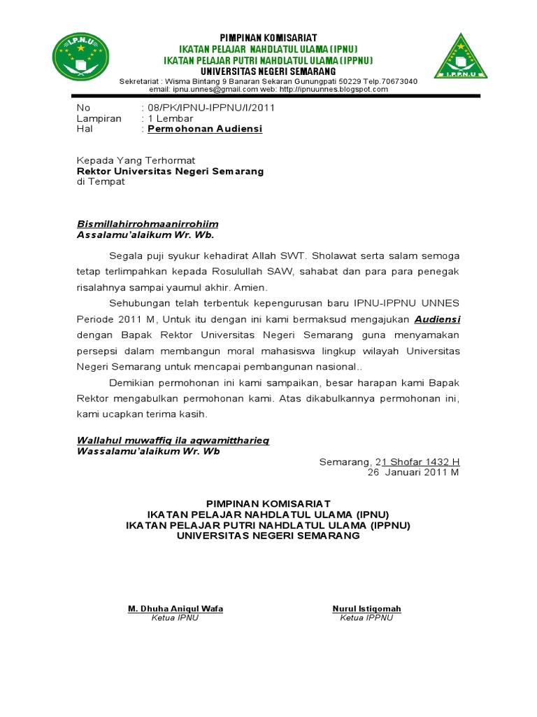 Contoh Surat Audiensi