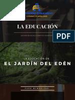 """Lección de Escuela Sabática Adventista 2020 """"LA EDUCACIÓN"""""""