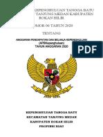 PERATURAN KEPENGHULUAN APBKEP 2020-1