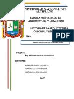 INFORME CATEDRAL DE LIMA