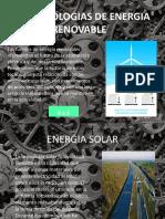 LAS TECNOLOGIAS DE ENERGIA RENOVABLE