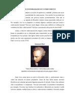 CONDIÇÕES DE POSSIBILIDADES DO CONHECIMENTO 2.1bi