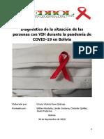 Diagnóstico de La Situación de Las Personas Con VIH Durante La Pandemia de COVID19