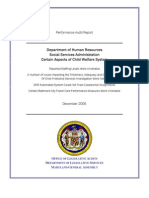 MD DHR Social Services Administration, Certain Aspects of Child Welfare System, Dec 2005