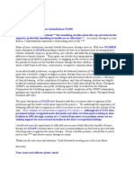 Sample Advocacy Letter