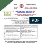 Formulaire inscription Master Recherche 2020-2021