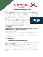 Plan Emergencia COVID Para Plan Incidencia Politica y Sostenibilidad VIH