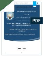 Sistema contable de empresas de comercio exterior