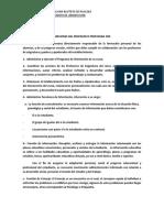 FUNCIONES DEL PROFESOR O PROFESORA JEFE