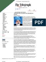 The Telegraph - 19 Jan 2011 - Wage Sparks Fly on Job Scheme - UPA Draws Flak Over Minimum Rate, Ahluwalia Lone Defender