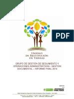 INFORME FINAL GESTION DOCUMENTAL 2014
