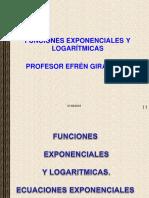 FUNCIONES EXPONENCIAL Y LOGARITMICA