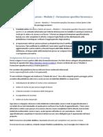 Il percorso Modulo 2 - Formazione specifica Sicurezza e Salute (parte I)