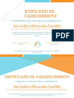 Orange Header Internship Certificate