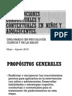 TEMA 1. ESTRATEGÍAS DE MODIFICACIÓN CONDUCTUAL PARA TRASTORNOS EXTERNALIZADOS E INTERNALIZADOS