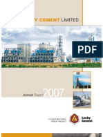Lucky Cement Annual Report 2007