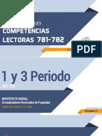S5 - 3P 701-702 COMPETENCIAS LECTORAS