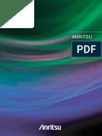 Anritsu Electronic Measuring Instruments Catalog 2014