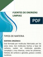 FUENTES DE ENERGÍAS LIMPIAS