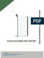 MANUAL DE INSTALACION CORTINA METALICA MK200