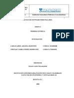 PROCESO DE SOFTWARE PERSONALsegunda ENTREGA 2020 (1) (1).docx
