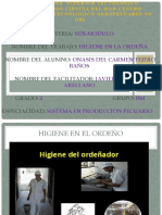 HIGIENE EL LA ORDEÑA