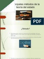 PRESENTACION METODOS DE LA TEORIA DEL ESTADO
