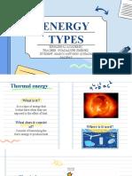 Types of energy by Marco Antonio
